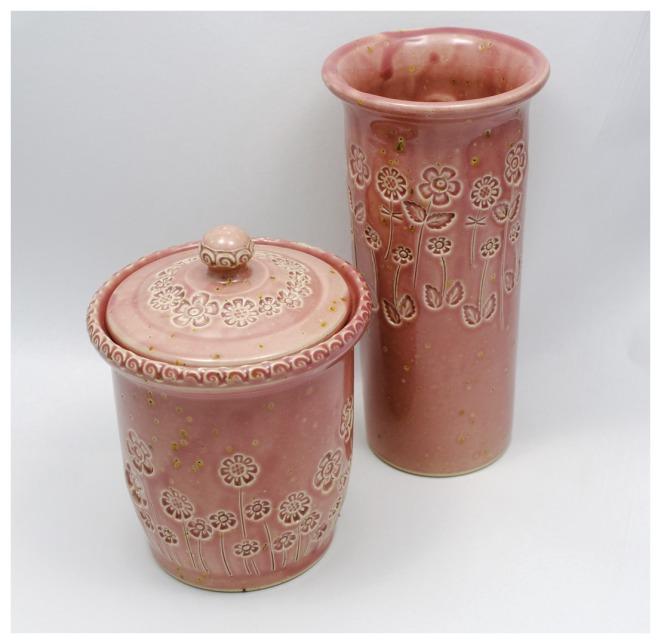 """Bonbonnière & Vase """"Rose Vintage"""""""